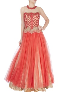 orange-embroidered-gown