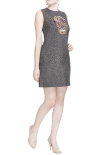 grey-embellished-skull-dress