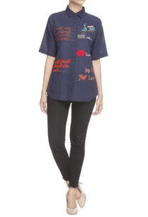 navy-blue-text-embroidered-shirt