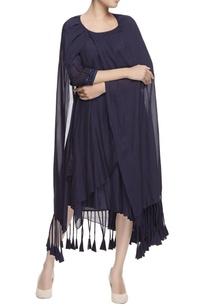 blue-tiered-drape-dress