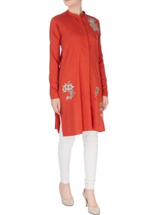 red-applique-embroidery-kurta