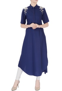 navy-blue-long-kurta