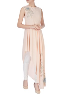 light-peach-one-side-asymmetric-kurta