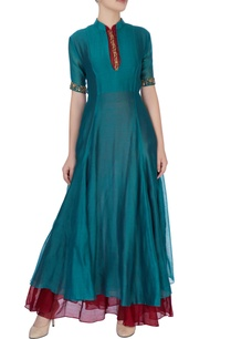 blue-silk-kurta-with-embroidery