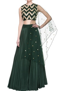 green-sequin-embellished-lehenga