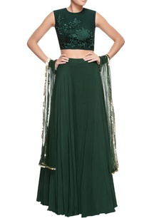 green-embroidered-blouse-lehenga