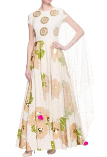 white-foil-printed-anarkali