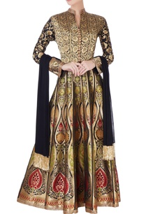 multicolored-brocade-anarkali-dupatta