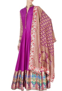 purple-brocade-anarkali-silk-pants