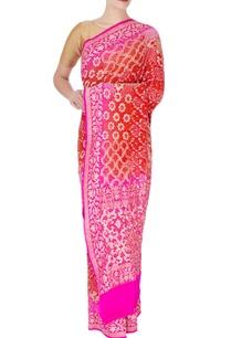pink-red-bandhani-sari