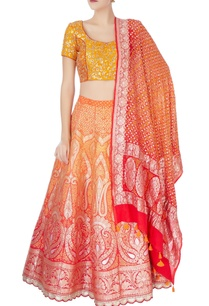 yellow-orange-bandhani-lehenga