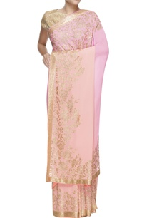 pink-peach-ombre-embellished-sari