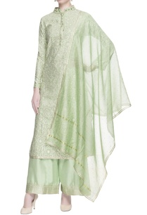 light-green-gota-work-kurta-set
