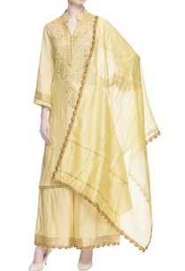 yellow-embroidered-kurta-palazzos