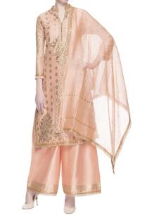 peach-gota-embroidered-kurta-set