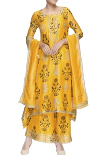 sunset-yellow-asymmetric-kurta-set