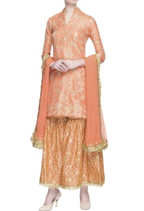 peach-gota-embroidered-kurta-set