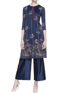 blue-chanderi-embroidered-kurta