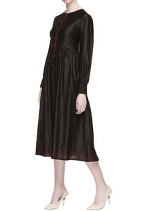 black-chanderi-silk-midi-dress