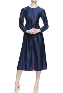 blue-chanderi-silk-midi-dress