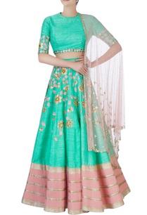 sea-green-pink-embroidered-lehenga-set