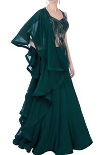 dark-green-sequin-embellished-gown
