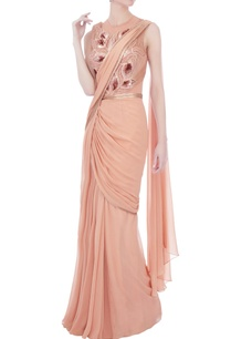 rose-pink-chiffon-sari-gown