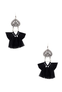 black-tasseled-earrings