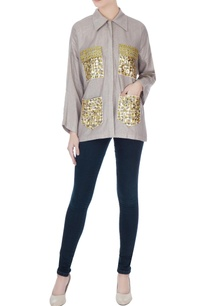 beige-sequin-embroidered-poly-cotton-shirt