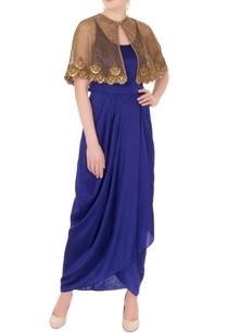 blue-satin-spaghetti-strap-dress-with-zardozi-cutwork-cape