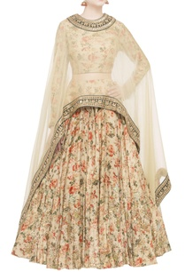 pale-pink-organza-printed-skirt-and-cape