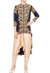 navy-blue-georgette-silk-embellished-asymmetric-jacket