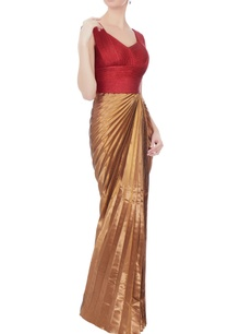 red-antique-copper-pleated-gown