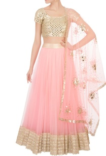 pink-flared-net-lehenga-with-blouse