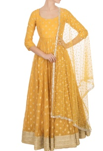 orange-chanderi-anarkali-with-dupatta