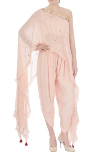 pink-embellished-kurta-with-dhoti-pants