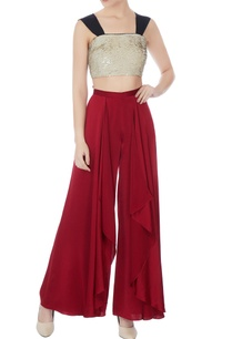 gold-satin-sequinned-rope-straped-crop-top