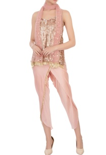 rose-gold-sequin-top-pants-with-dupatta