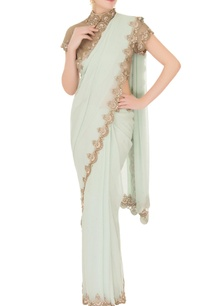 mint-green-georgette-saree-with-tulle-net-blouse