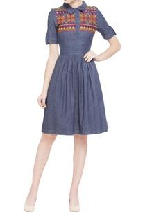 blue-denim-skater-dress