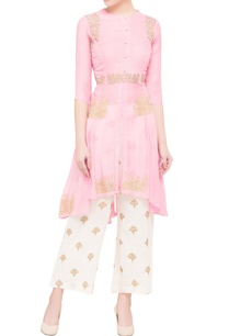 pink-asymmetric-kurta-with-sequin-embroidered-pants