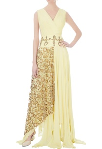 yellow-pleated-style-gown