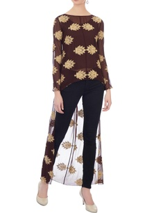 brown-georgette-embroidered-blouses