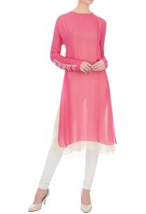 pink-embellished-layered-kurti
