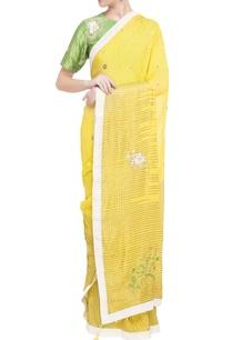 yellow-sari-with-green-blouse-petticoat
