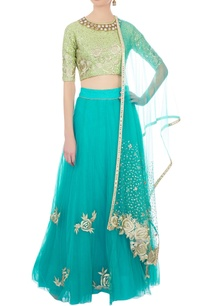 light-green-aqua-blue-embroidered-lehenga-set