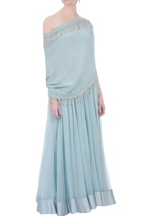 icy-blue-beaded-tassel-anarkali-with-attached-cape