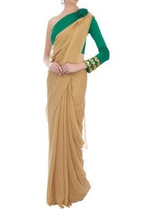 teal-green-neoprene-embellished-sari-blouse