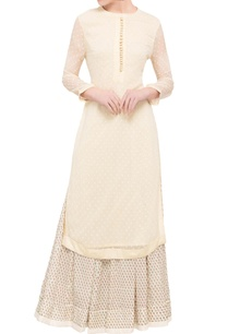 baby-pink-georgette-kurta-with-skirt