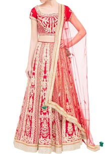 red-silk-satin-gota-work-lehenga-set